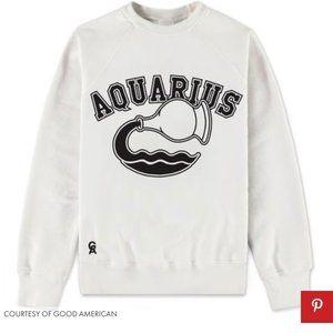 Good American Aquarius Zodiac Sweatshirt Sz 2/3